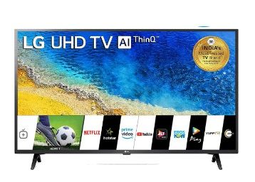 Flat 29% off on LG 108 cm (43 inches) 4K UHD Smart LED TV (Ceramic Black) (2019 Model)